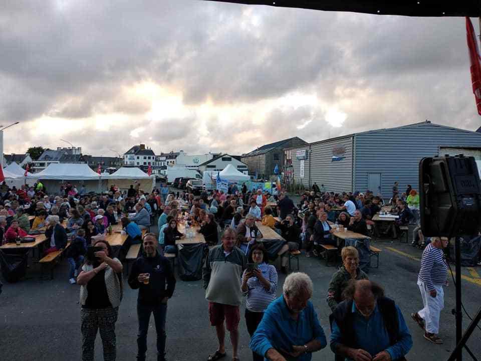 Lesconil, 20 juillet 2019: la grande foule à la fête du Travailleur Bigouden  organisée par la section PCF du Pays Bigouden