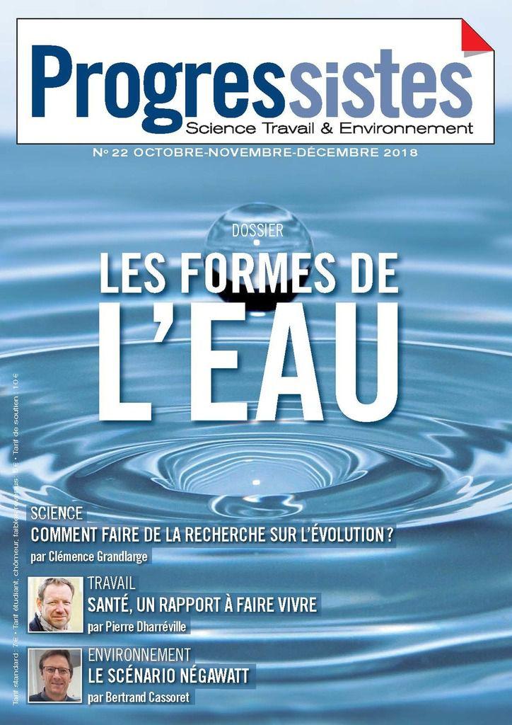 """POUR UNE GESTION DE L'EAU COMME BIEN COMMUN (Revue """"Progressistes"""")"""