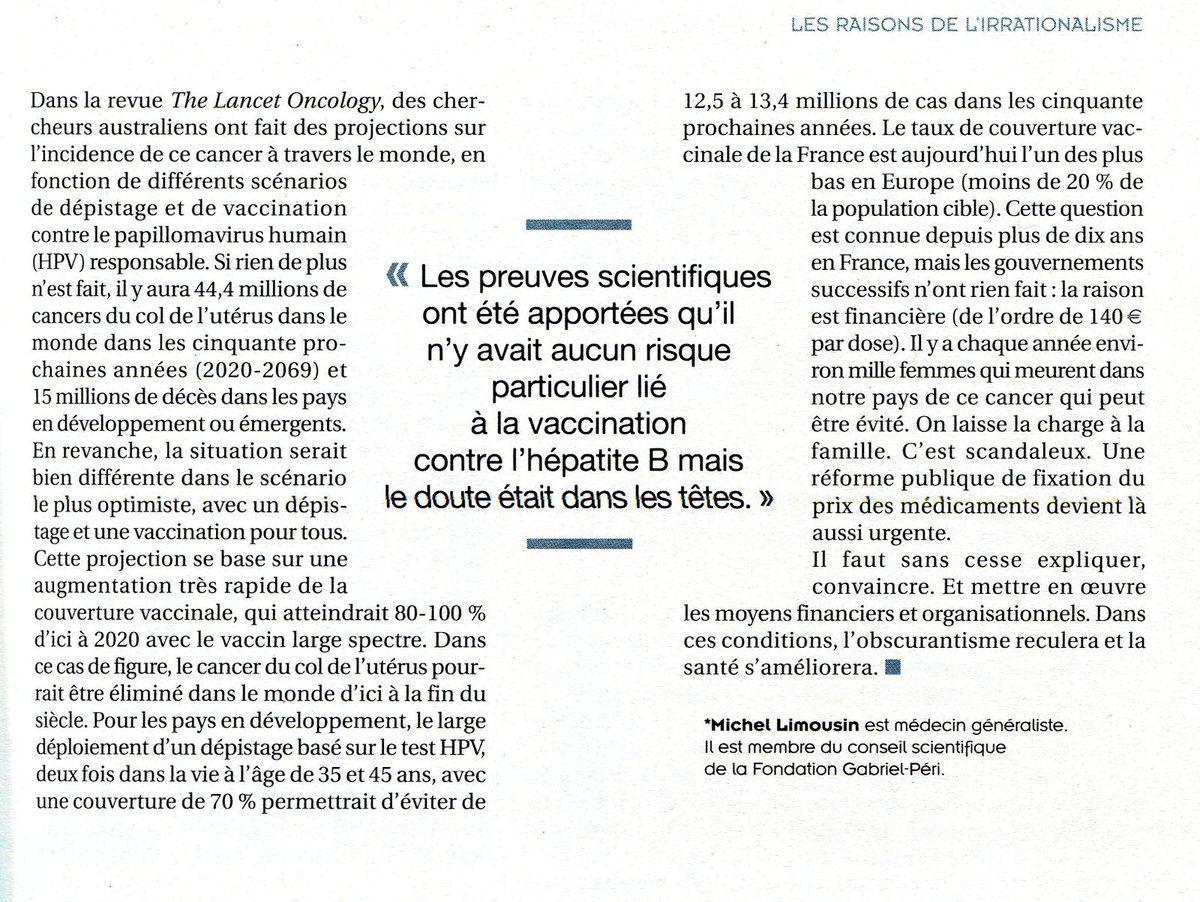 """LA PEUR DES VACCINS UN PHÉNOMÈNE COMPLEXE ( """"Cause Commune"""" -  Mai / Juin 2019 - Revue d'action politique du PCF)"""
