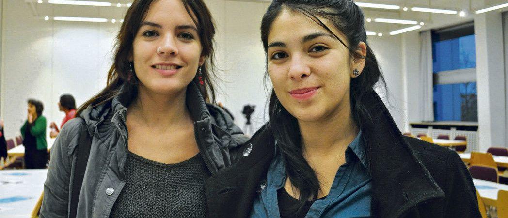 Photo L'Humanité : Camilla Vallejo et Karol Cariola