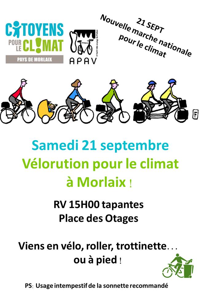 Marche pour le climat : velorution à-Morlaix- samedi 21 septembre 2019