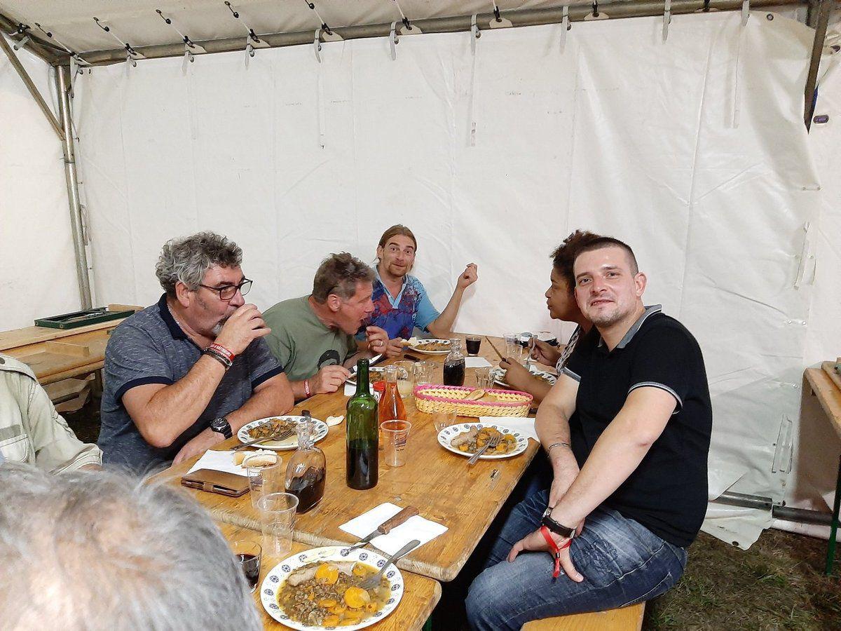 Fête de l'Huma 2019, stand du Finistère, du montage aux 3 jours de fête - suppléments de photos (Michel Tudo)