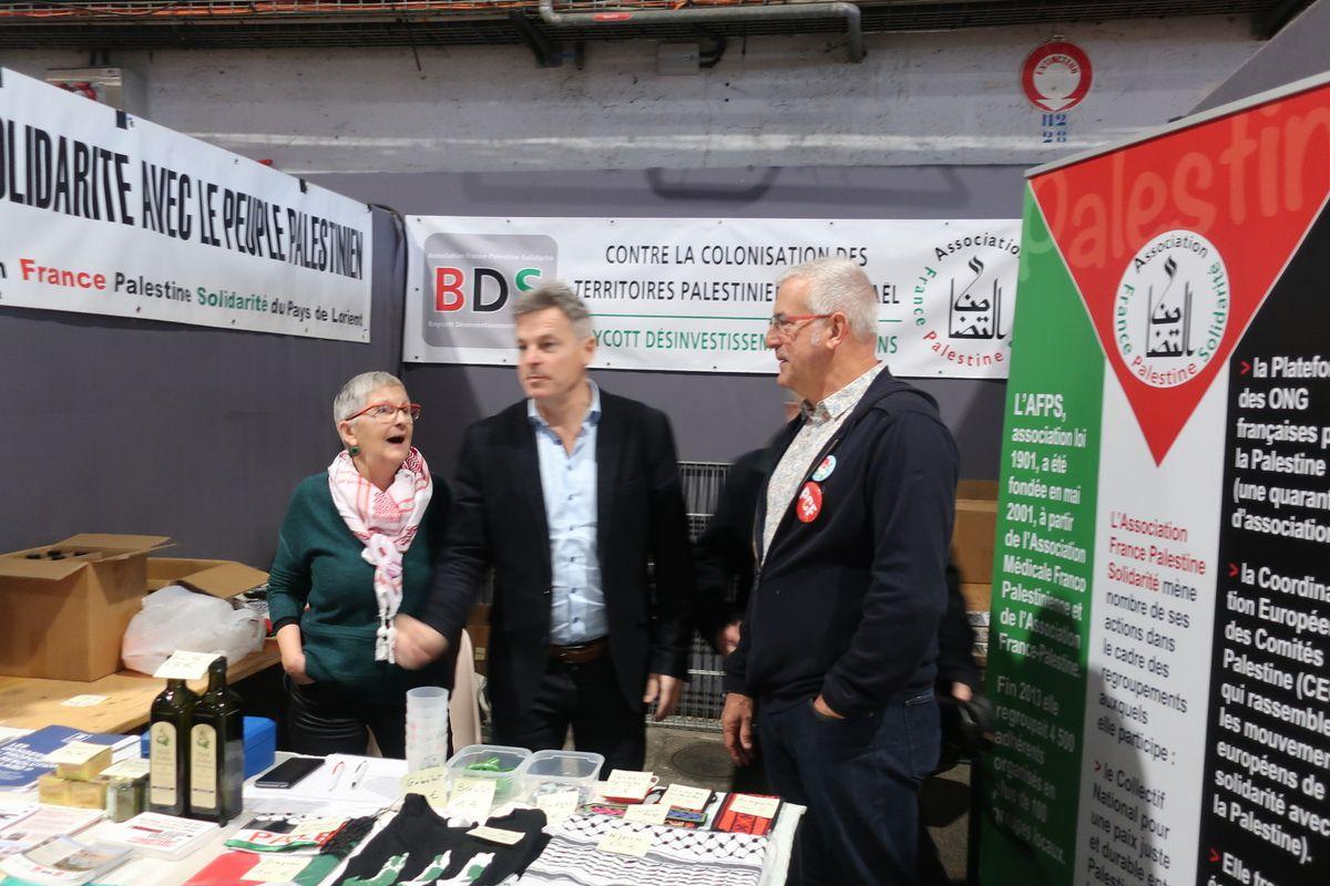 Un dimanche à la fête de l'Humanité Bretagne: premières photos d'un 1er décembre très intense avec la venue de Fabien Roussel à Lanester