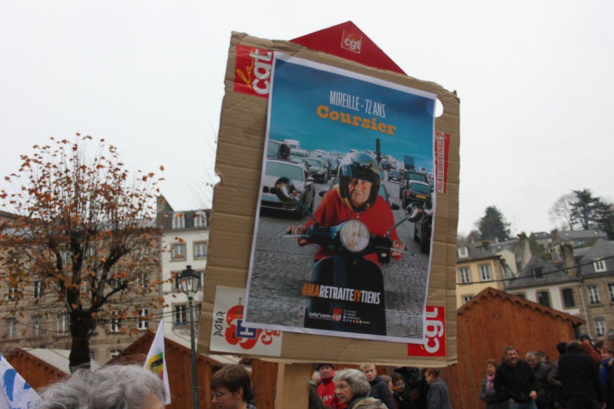 Reportage photo sur la manif du 5 décembre 2019 pour nos retraites à Morlaix par Jean-Luc Le Calvez
