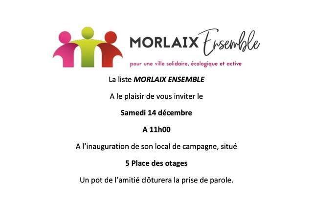 Municipales - Morlaix Ensemble - Une pleine réussite pour notre seconde réunion publique Forum Morlaix et ses associations ce mercredi 11 décembre