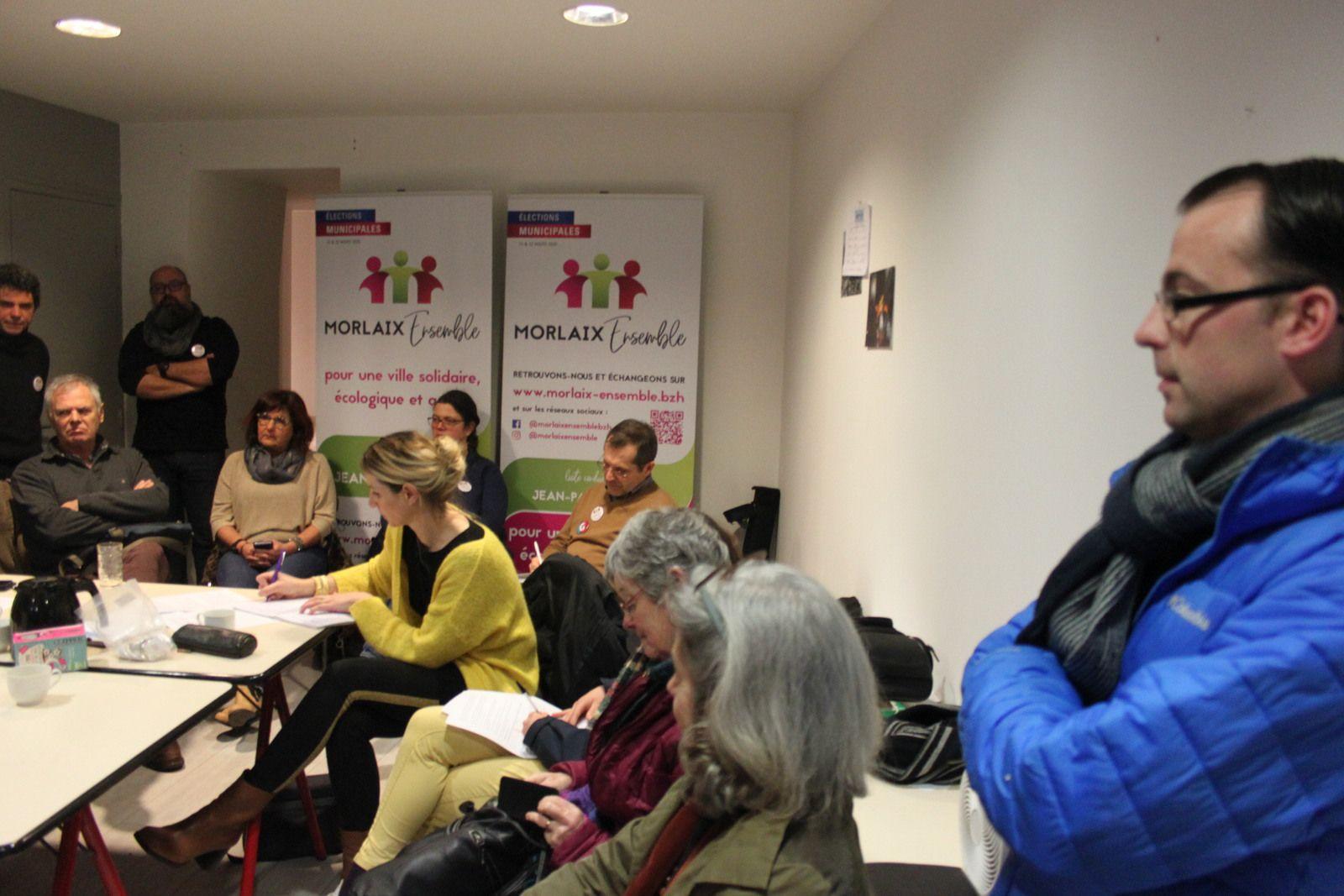 Conférence de presse de la liste Morlaix Ensemble conduite par Jean-Paul Vermot - voeux aux Morlaisiens - Photos Jean-Paul Le Calvez