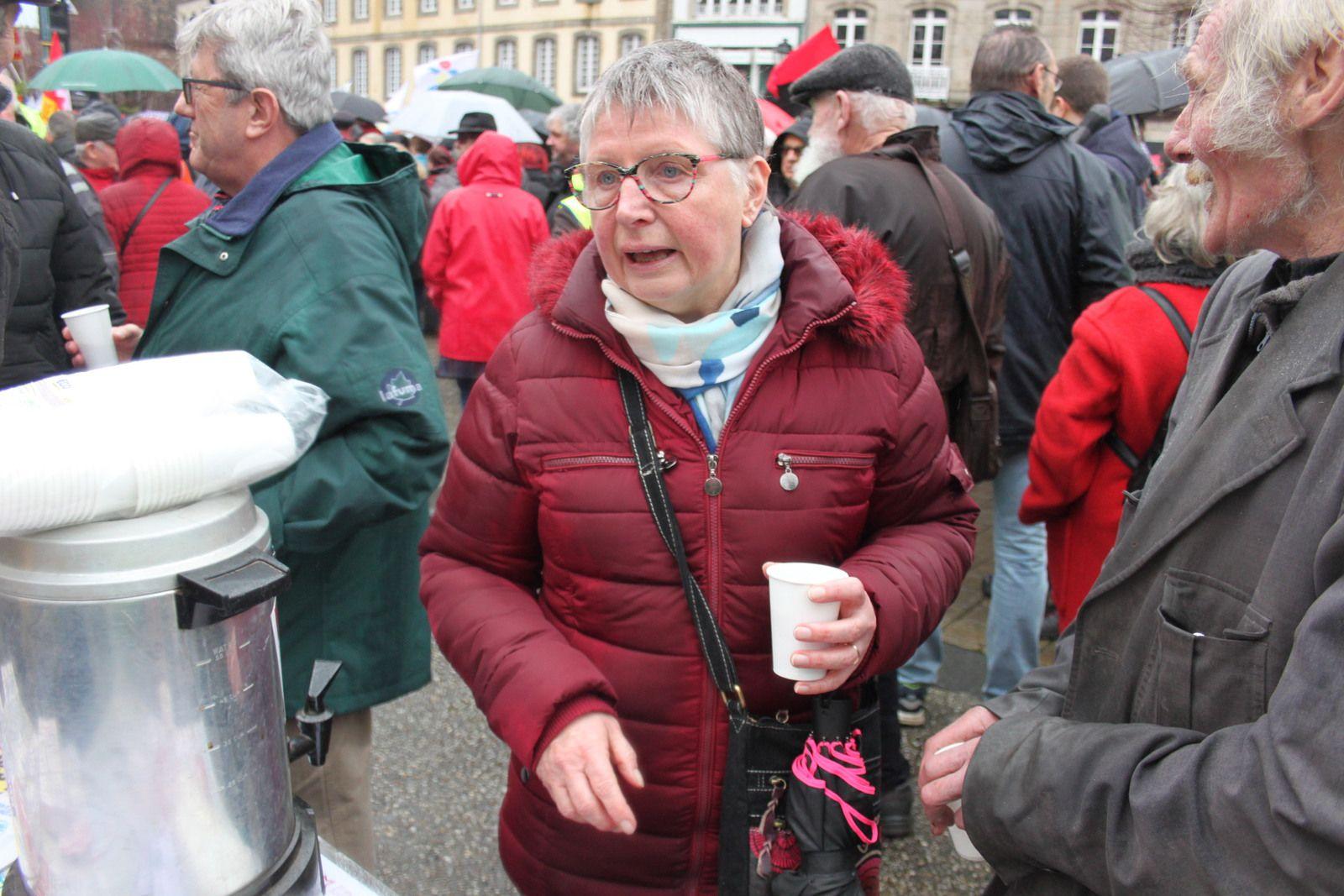 9 janvier 2020: Dans la manif contre la réforme des Retraites de Morlaix - Photos Jean-Luc Le Calvez