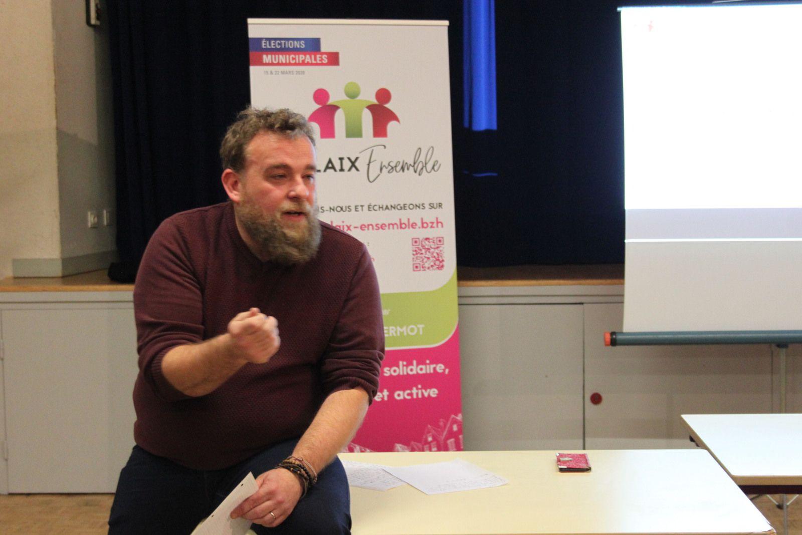 Atelier participatif de Morlaix Ensemble, pour une ville solidaire, écologique et active sur la Santé et les solidarités à Morlaix, à Ploujean, ce jeudi 9 janvier (photos Jean-Luc Le Calvez)