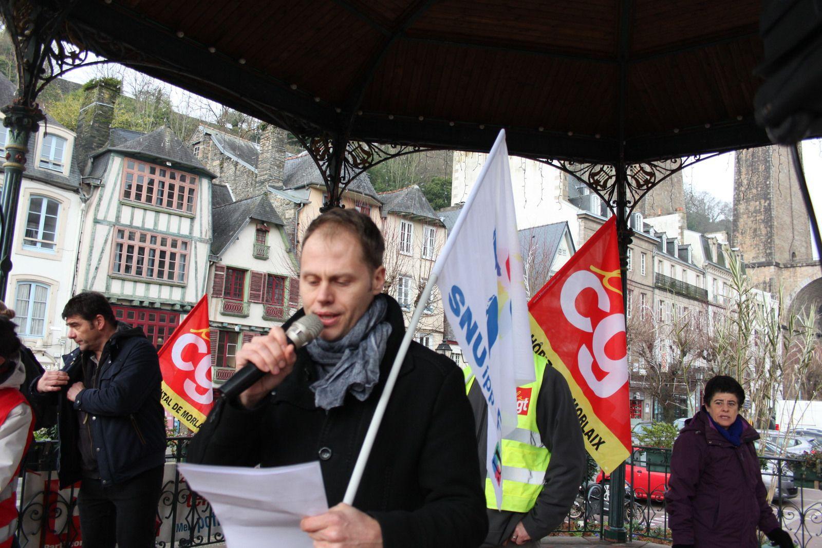 Manif du 24 janvier 2020 à Morlaix contre la réforme des retraites: 900 manifestants à la détermination intacte- Photos Jean-Luc Le Calvez et Pierre-Yvon Boisnard