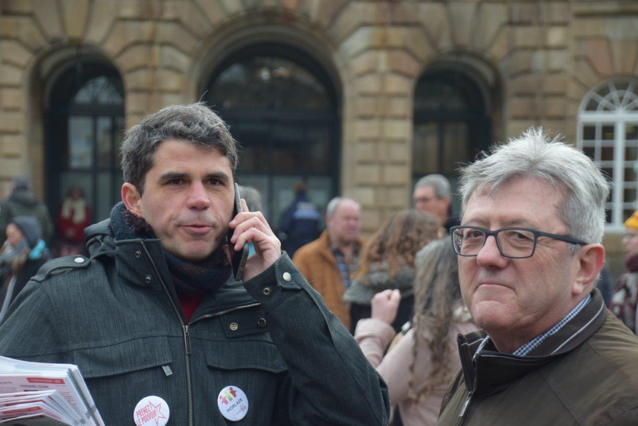 Photo Pierre-Yvon Boisnard 24 janvier 2019 manif contre la réforme des retraites Morlaix