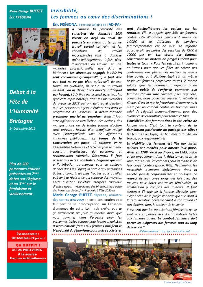 A coeur ouvert, le journal de l'atelier citoyen santé du PCF Bretagne, n°4, janvier 2020
