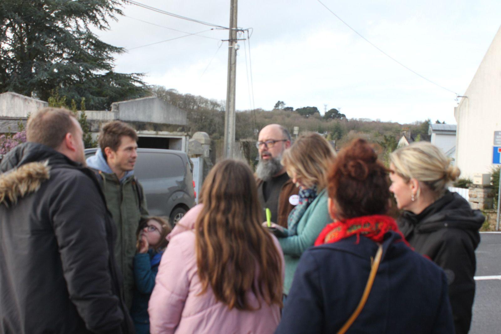 La parole aux quartiers - Morlaix Ensemble à Troudousten et Coatserho - samedi 1er février  (photos Jean-Luc Le Calvez)