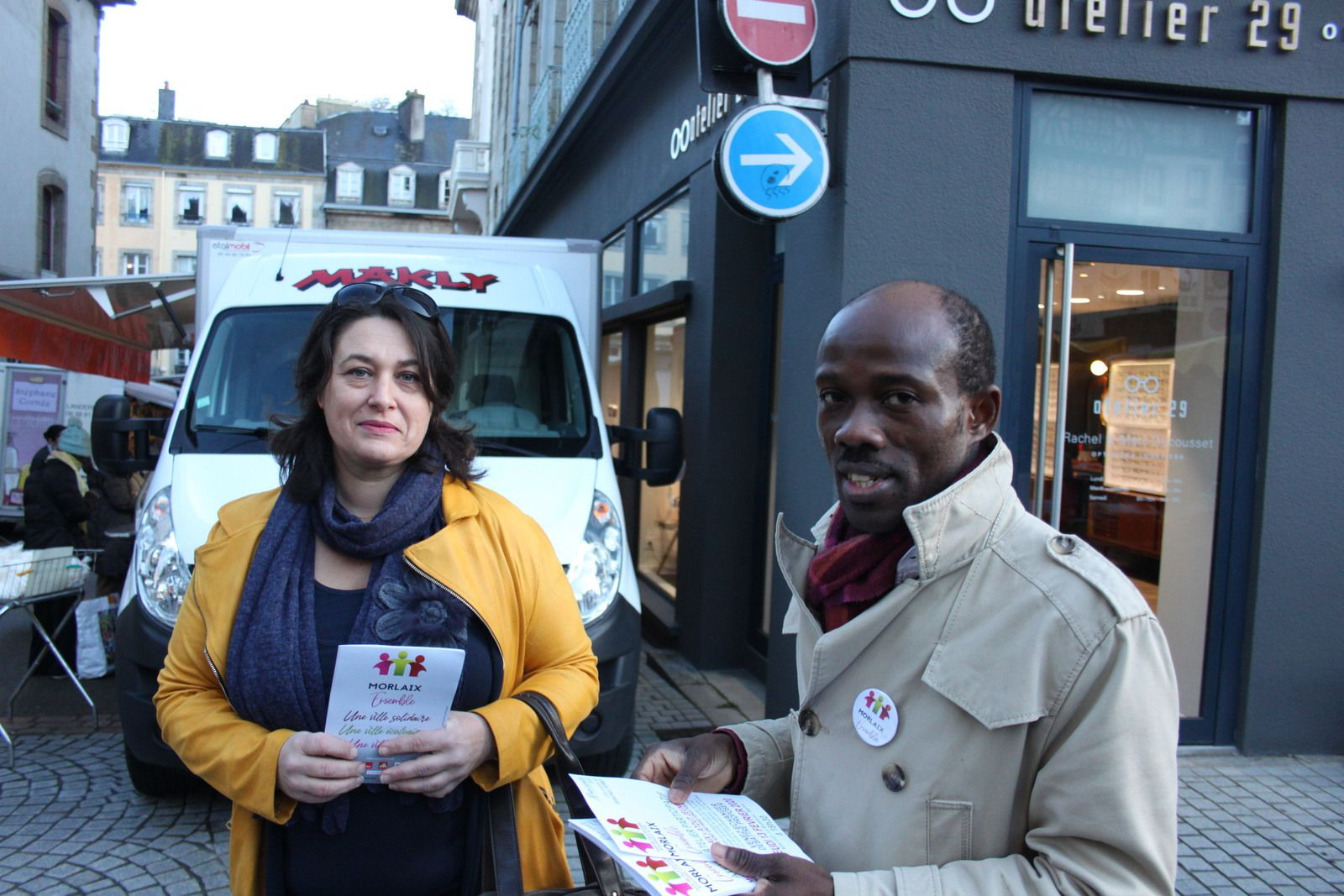 Laetitia Tosser et Merlin Gaba Engaba (photo Jean-Luc Le Calvez)