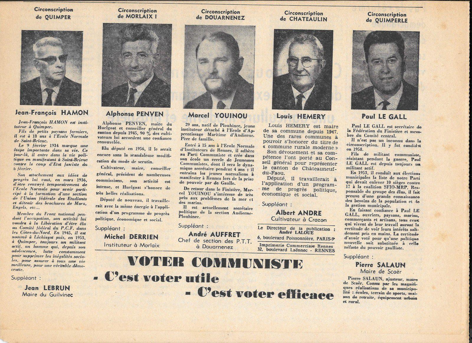 Décès de Paul Le Gall (né en 1925), ancien secrétaire départemental du PCF Finistère et Sud-Finistère, ancien membre du Comité central du PCF, ancien résistant
