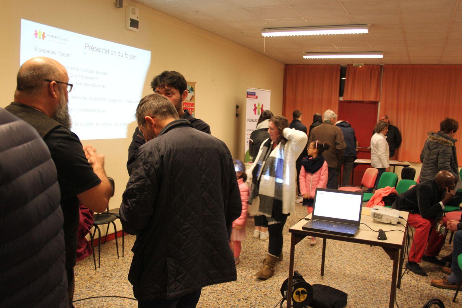 Forum Jeunesse de Morlaix Ensemble - Jeudi 13 février à La Madeleine, au mille club - Photos de Jean-Luc Le Calvez