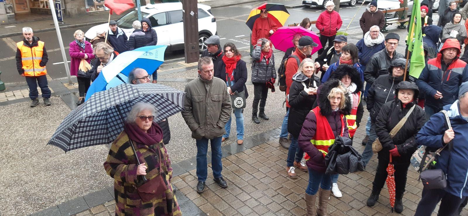 Nouvelle mobilisation sur les retraites à Morlaix - 20 février 2020 - 250 à 300 manifestants (photos Jean-Luc Le Calvez et Pierre-Yvon Boisnard)