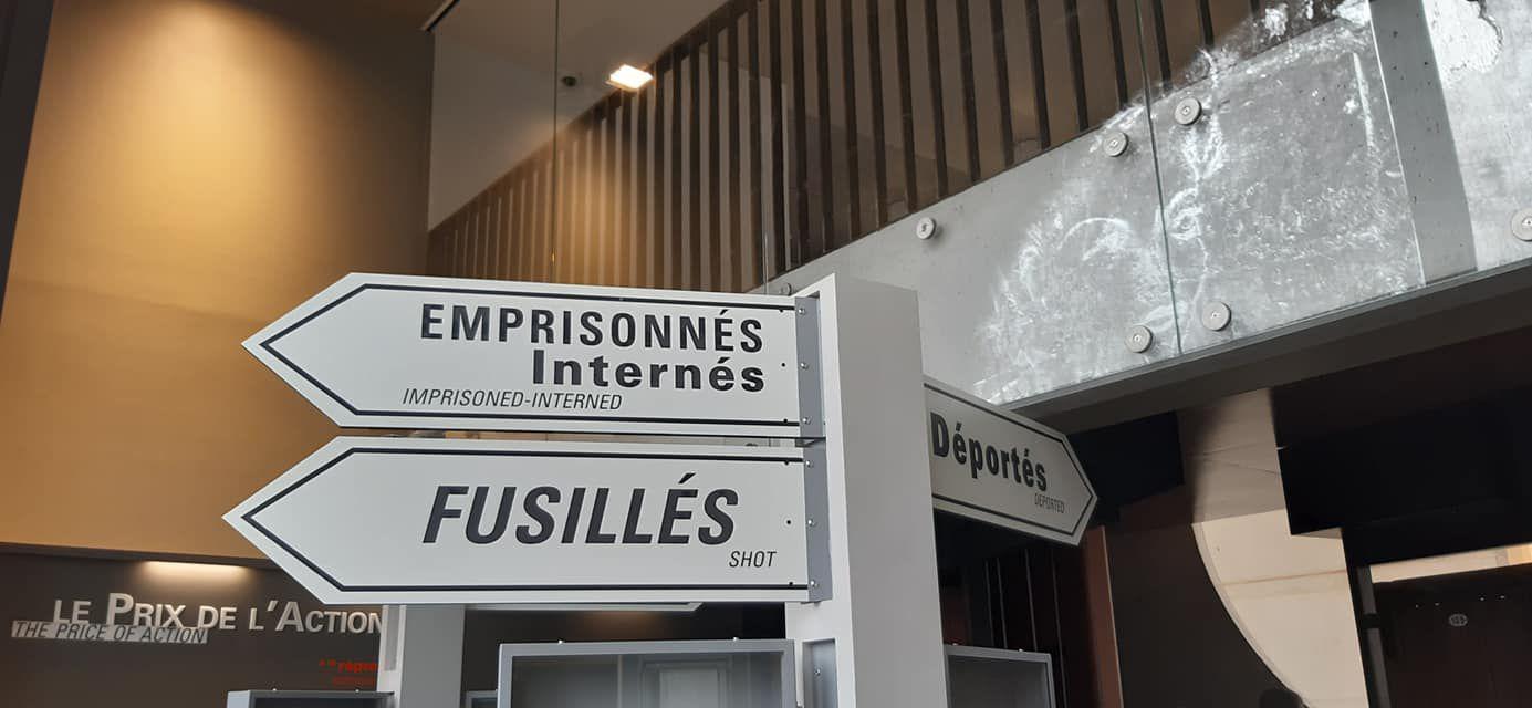 Samedi 29 février - Lucienne Nayet participait à l'inauguration du nouveau musée de la résistance de Champigny-sur-Marne