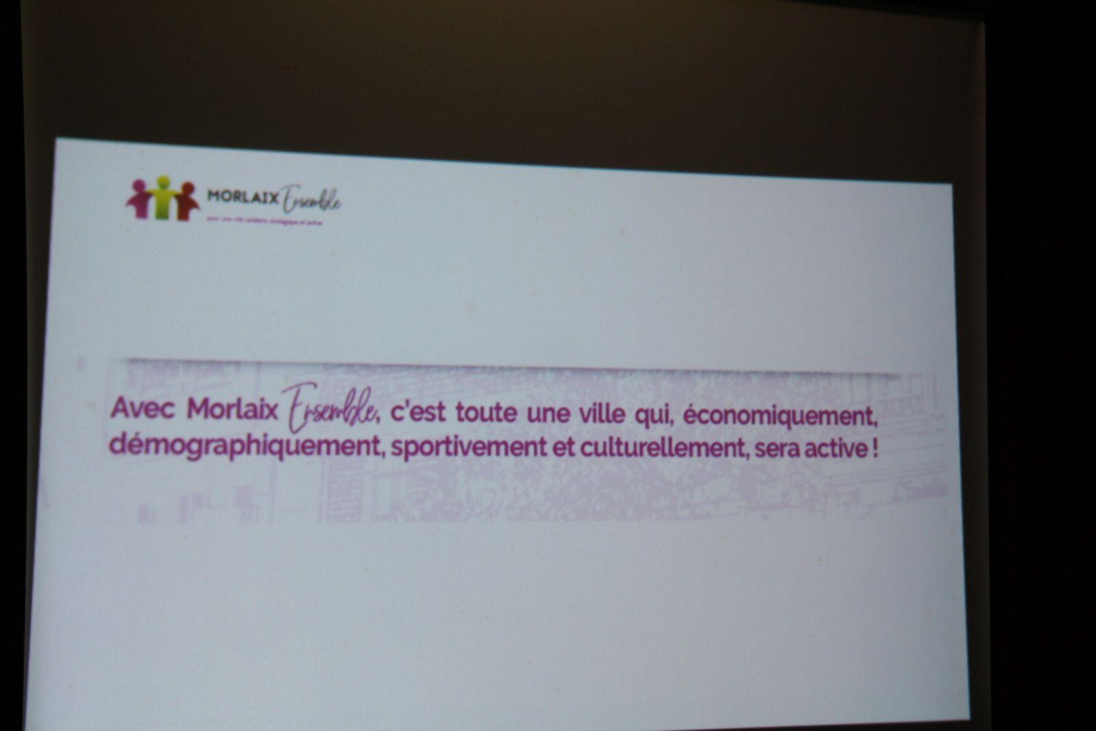 Municipales, jeudi 5 mars: une très belle réunion publique Forum ville active de Morlaix Ensemble à l'auberge de jeunesse (photos Jean-Luc Le Calvez)