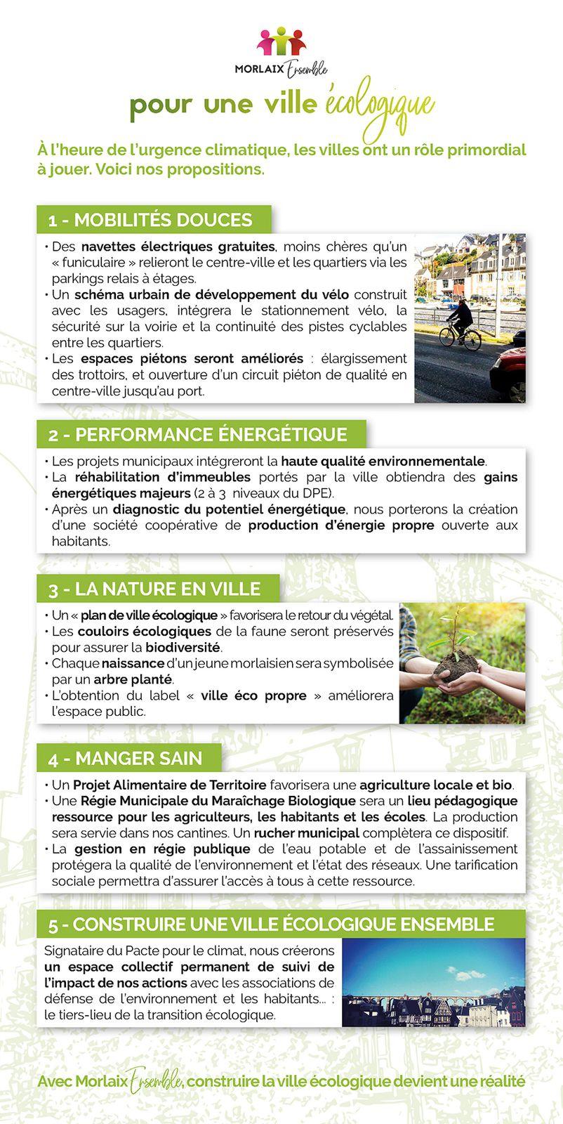 Municipales - Morlaix Ensemble présente son dépliant programme de 8 pages pour une ville solidaire, écologique, active