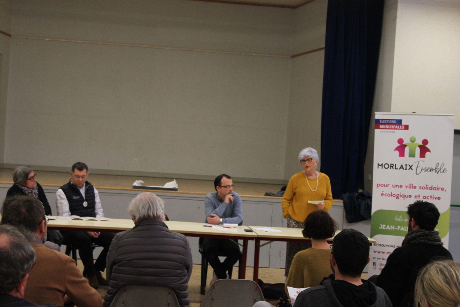 Municipales - Réunion publique de Ploujean le mercredi 4 mars - Photos Jean-Luc Le Calvez