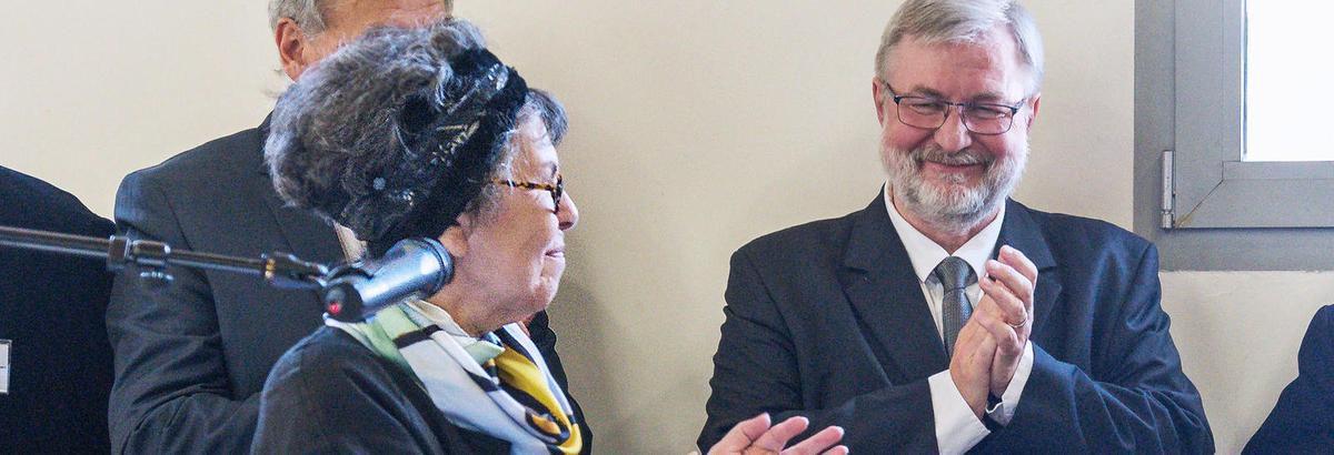 Lucienne Nayet et Dominique Adenot, ancien maire communiste de Champigny sur Marne