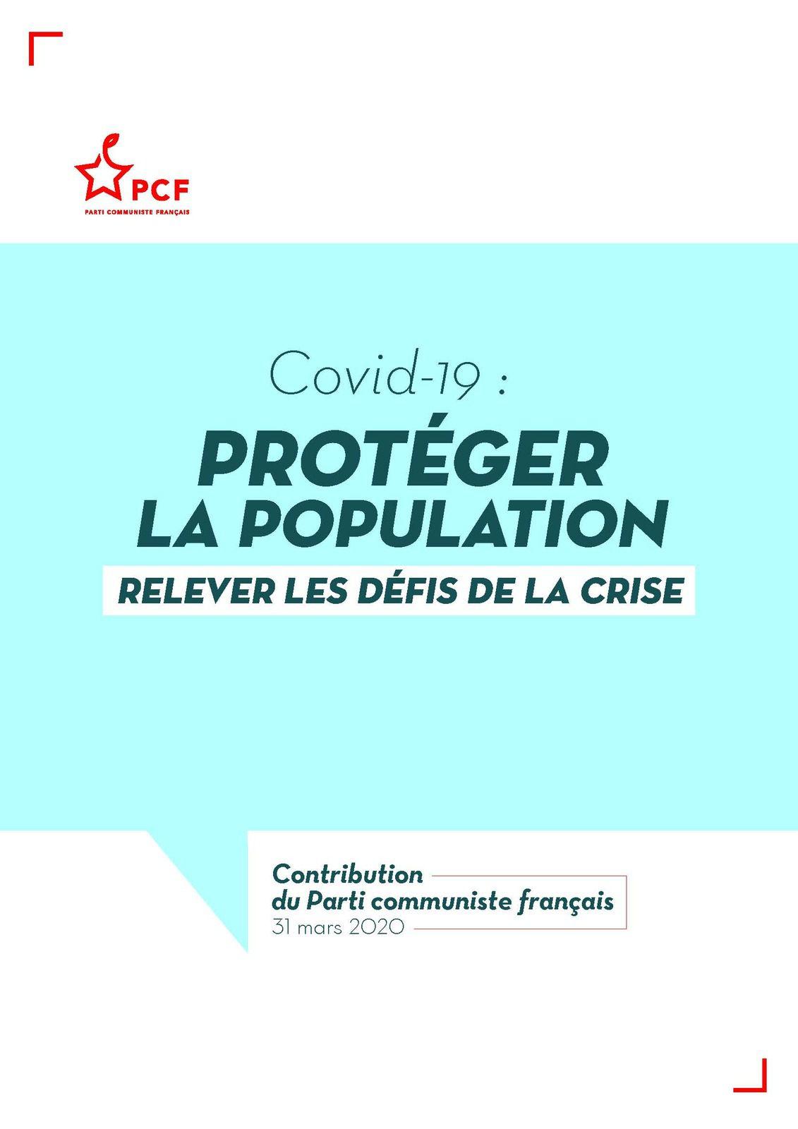 Covid_19 : les propositions du PCF
