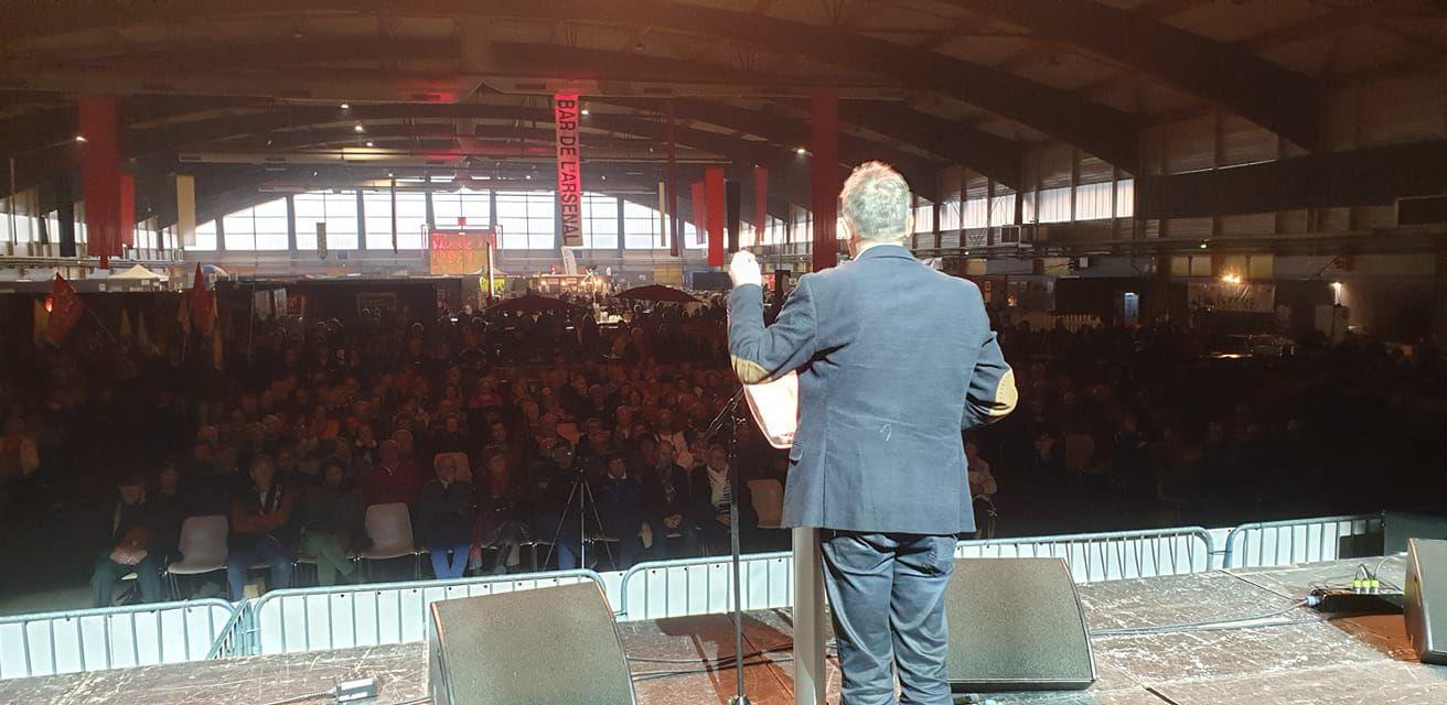 Fabien Roussel en meeting à la fête de l'Humanité Bretagne, décembre 2019 à Lanester