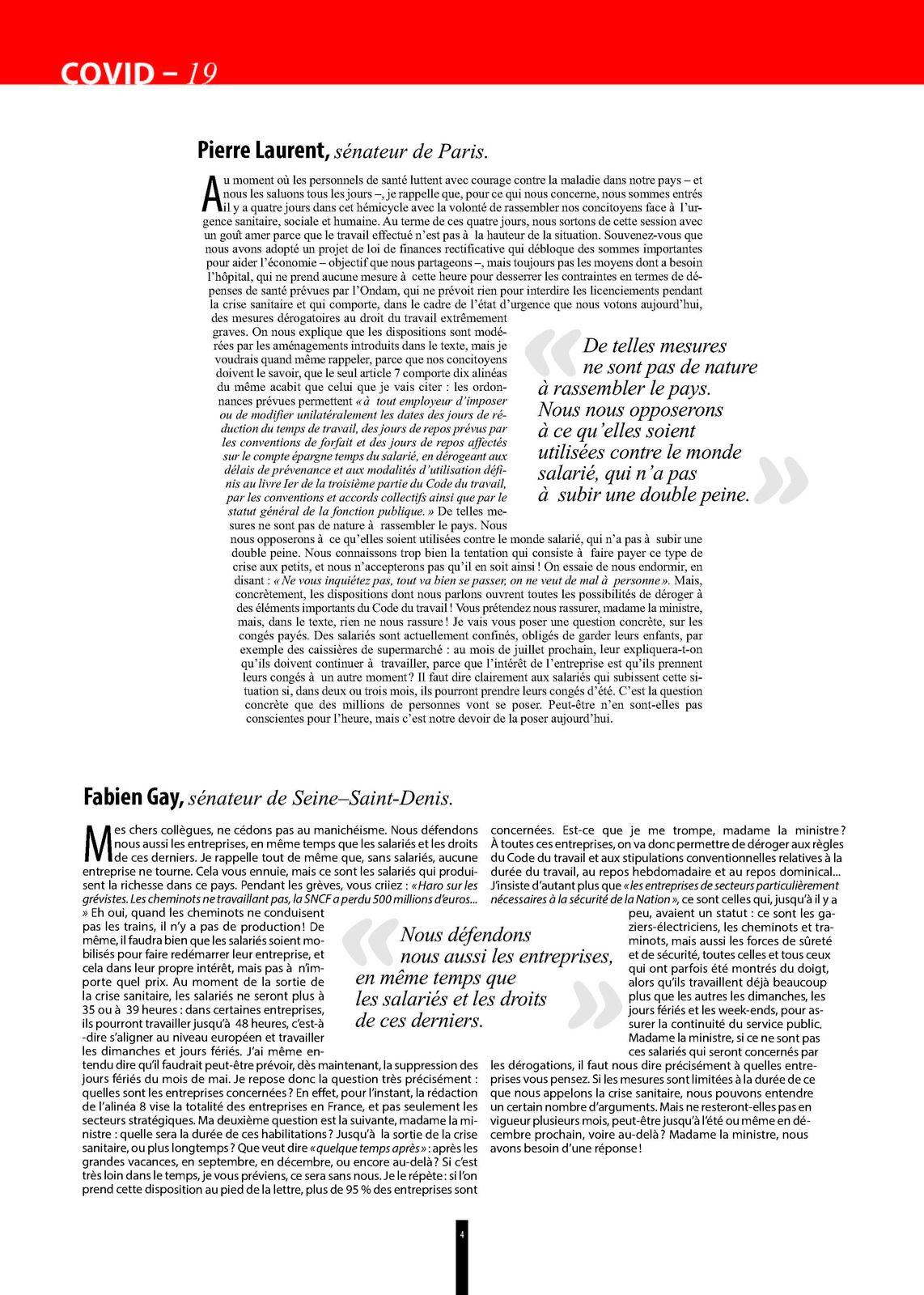 INITIATIVES - Journal du groupe communiste, républicain, citoyen, et écologiste au Sénat (Numéro 118 - Avril 2020)