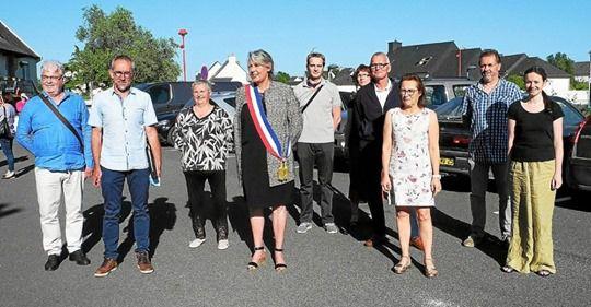 Joëlle Huon - nouvelle maire de Plouigneau (photo Le Télégramme - 27 mai 2020)