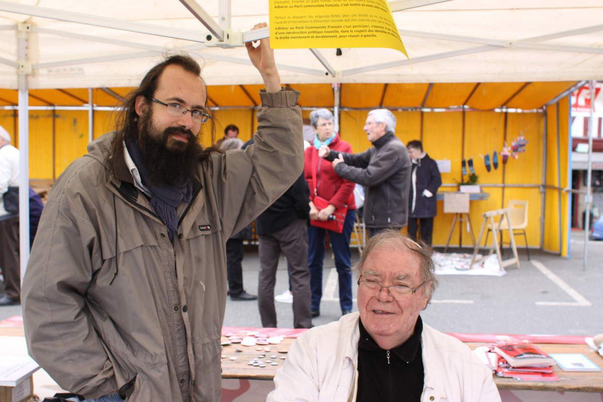 Alain David avec Vinko Markov - fête du Viaduc 2017