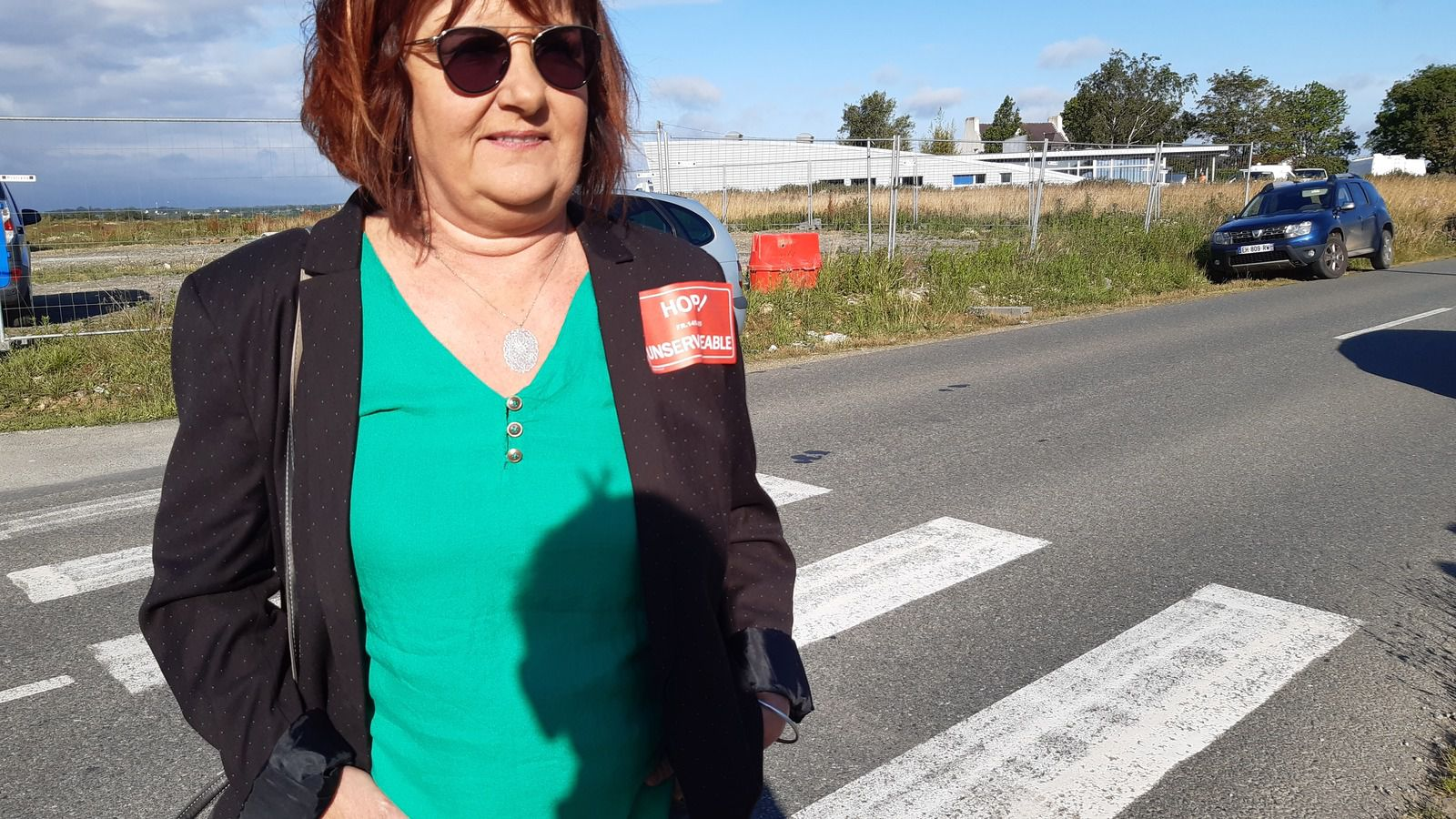 Valérie Scattolin,  salariée de Hop!, syndicaliste, et élue de gauche à Morlaix (PCF)