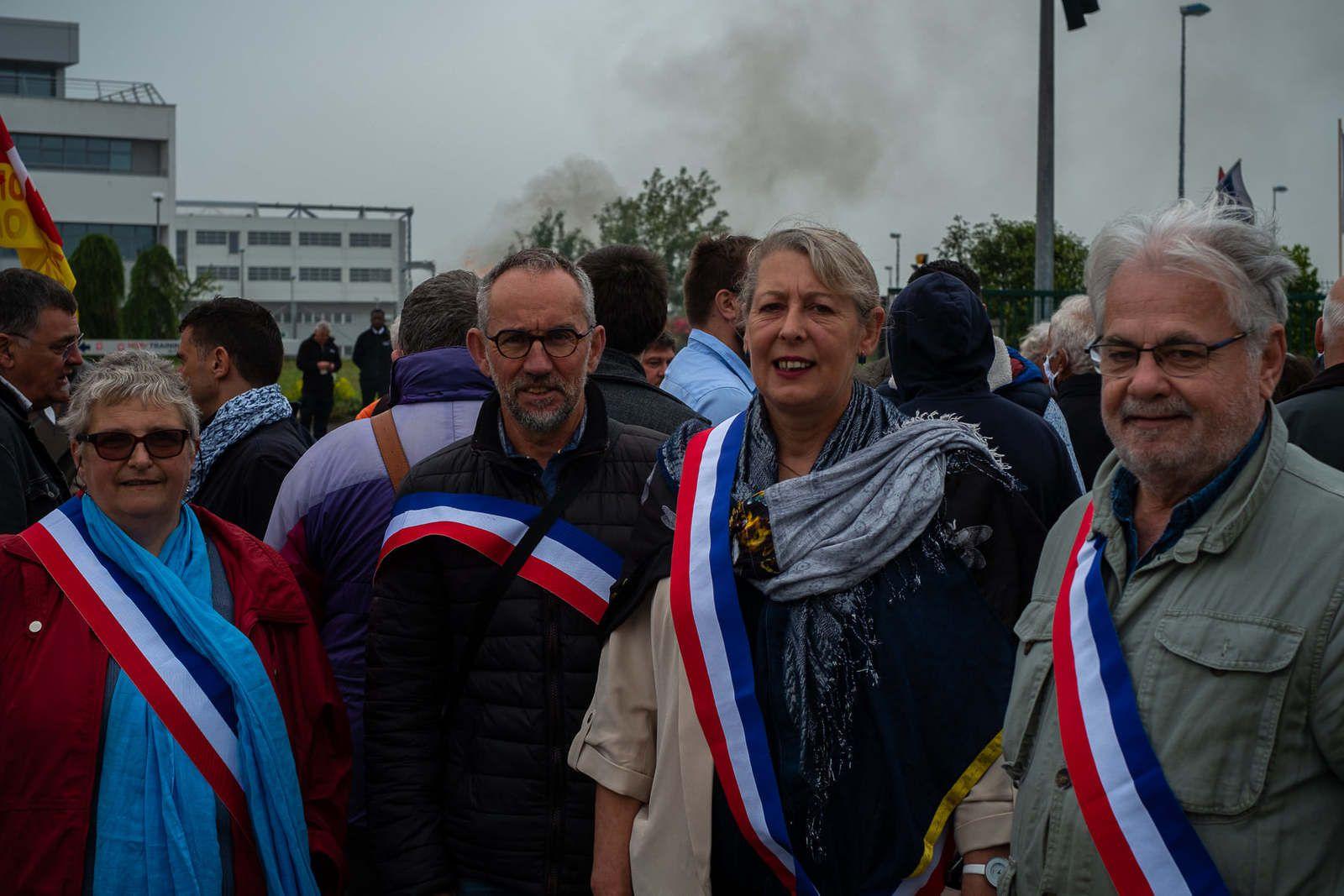 Les élus de Plouigneau étaient présents eux aussi à la manif pour Hop!