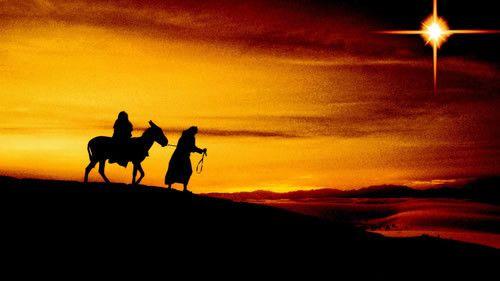 Marie et Joseph vers Bethléem