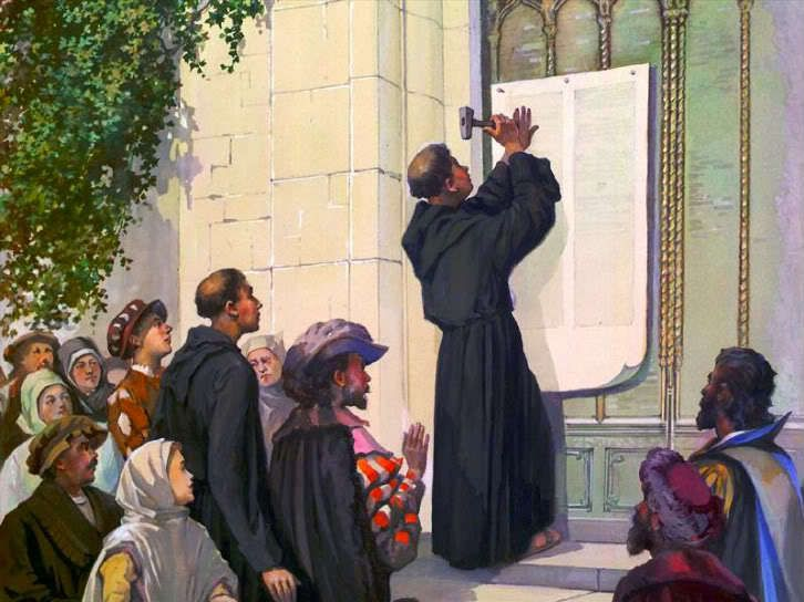 Martin Luther affiche ses 95 thèses