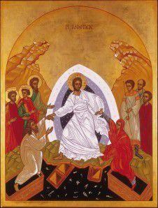 Jésus ressuscité relève Adam et Eve