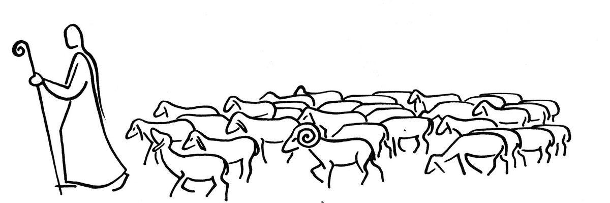 Quand le berger a conduit dehors toutes ses brebis, il marche à leur tête, et elles le suivent, car elles connaissent sa voix.