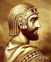 Parole du Seigneur au roi Cyrus, qu'il a consacré, qu'il a pris par la main, pour lui soumettre les nations et désarmer les rois, pour lui ouvrir les portes à deux battants, car aucune porte ne restera fermée