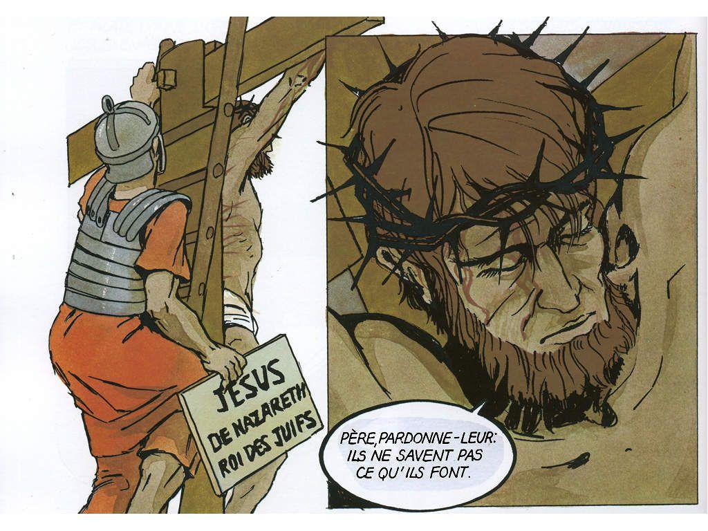 """Jésus sur la croix : """"Père, pardonne-leur. Ils ne savent pas ce qu'ils font."""" (Luc 23,34)"""