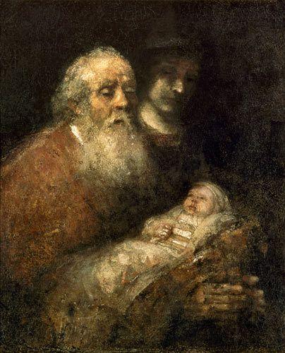 Syméon prit l'enfant dans ses bras, et il bénit Dieu