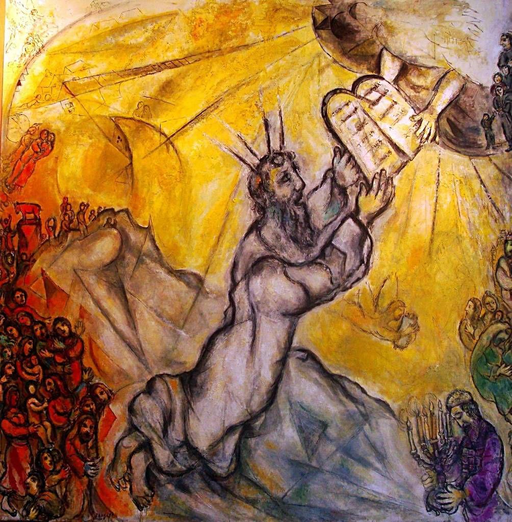 Sur le Sinaï, Moïse reçoit du Seigneur les Tables de la Loi avec les Dix Commandements