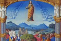 Le Seigneur Jésus, après leur avoir parlé, fut enlevé au ciel et s'assit à la droite de Dieu.