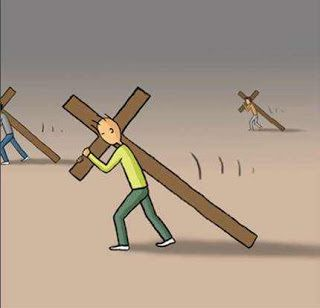Si quelqu'un veut marcher derrière moi, qu'il renonce à lui-même, qu'il prenne sa croix, et qu'il me suive.