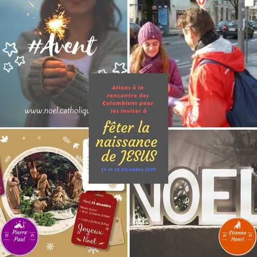 Comme St Paul, missionnaire pour offrir la carte de Noël