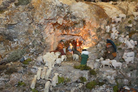 les bergers vont à la crèche en toute hâte