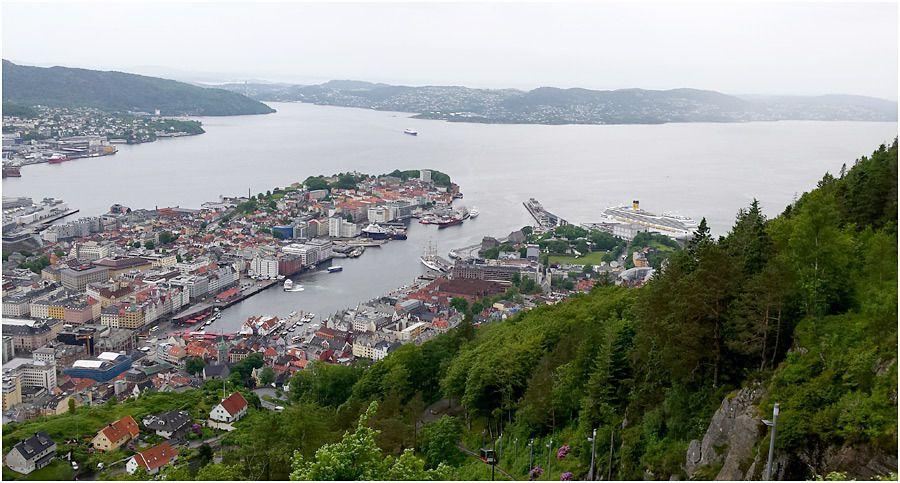 Costa Magica - Bergen - promenade sur le mont Fløyen