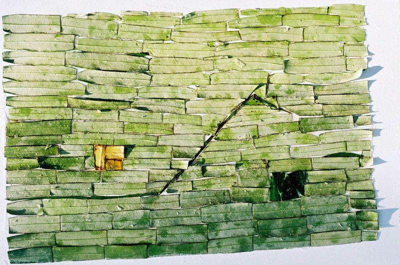 Peinture et collage de Danièle Dukaczewski