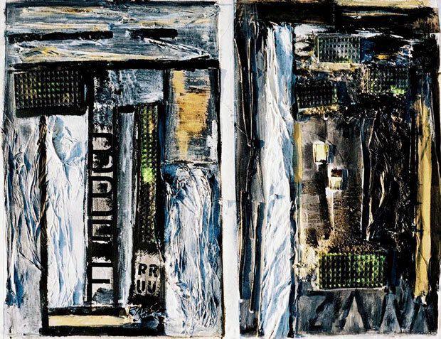 Peinture et collage de Mireille Vital