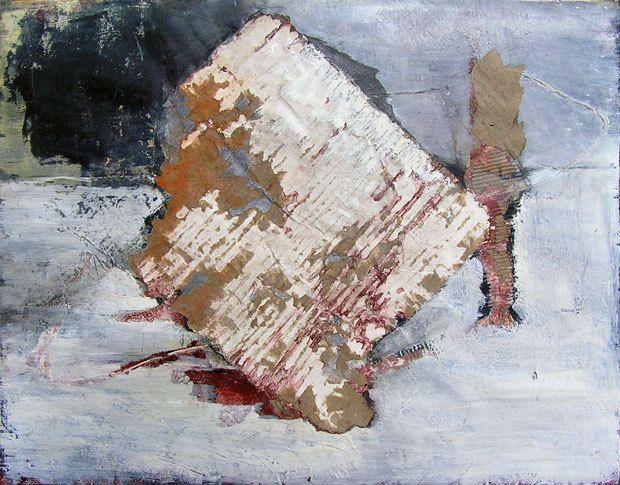 Peinture et collage de Monic André