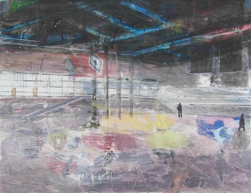 Kati Kukkasniemi 2006 - Un lieu possible - Acrylique et transferts sur papier