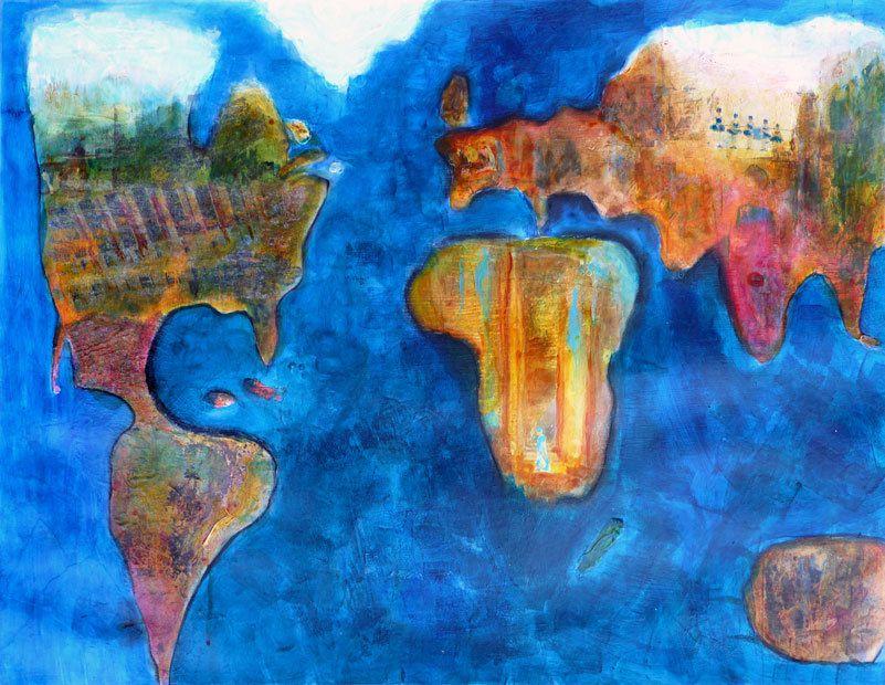Refaire le monde - Peinture de Kathleen Albert